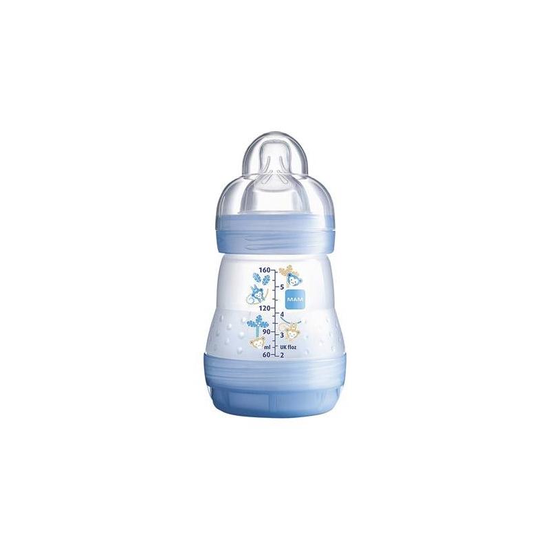 Бутылочка для кормления Anti-Colic 160 млБутылочка для кормления Anti-Colic Arctic Blue Eco сине-голубогоцвета австрийской марки МАМ, 160мл<br>Anti-Colic - идеальные бутылки для малышей с первого дня кормления. Нижний клапан бутылочки гарантирует, что младенцы могут спокойно и расслабленно пить содержимое. Питание с помощью этих видов бутылочек уменьшает риск возникновения кишечных колик на 80%, таккак сокращается количество воздуха, который заглатывает ребенок при кормлении.<br>Бутылочка имеет новое свойство - самостерилизацию, -конструкция бутылочки позволяет эффективно и безопасно стерилизовать ее с помощью микроволновой печи.<br><br>Цвет: Голубой<br>Возраст от: 0 месяцев<br>Пол: Для мальчика<br>Артикул: 633966<br>Страна производитель: Венгрия<br>Бренд: Австрия<br>Размер: от 0 месяцев
