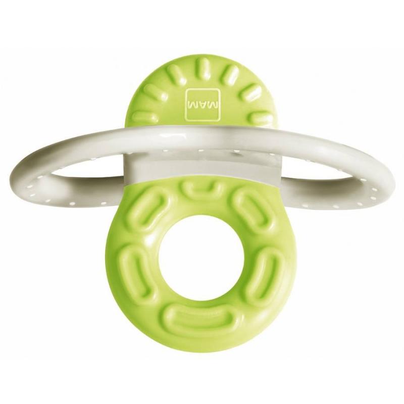 Прорезыватель для зубов с клипсой-держателемПрорезыватель для зубов с клипсой-держателем бело-зеленогоцвета австрийской марки МАМ<br>Разработан специально для прорезывания передних зубов. Благодаря инновационной форме и различным текстурам, прорезыватель мгновенно помогает облегчить боль в деснах. Сверхлегкий минипрорезыватель с клипсой-держателем всегда рядом и готов к использованию! Идея этого изделия – мини-прорезывателя для зубов – уникальна, поскольку оно обладает специальной 3-D формой, тренирующей мелкую моторику ребенка и в то же время выполняющей функцию прорезывателя для зубов. Ввиду особенностей протекания физиологических процессов прорезывания зубов были созданы два изделия: Bite &amp; Relax, фаза 1, - специально для передних зубов на первой фазе прорезывания зубов и Bite &amp; Relax, фаза 2 - для труднодоступных задних на второй фазе прорезывания зубов.<br>Рекомендован для малышей от 2 месяцев.<br><br>Цвет: Зеленый<br>Возраст от: 2 месяца<br>Пол: Не указан<br>Артикул: 633988<br>Бренд: Австрия<br>Страна производитель: Венгрия<br>Размер: от 2 месяцев