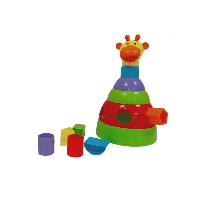 Пирамидка ЖирафРазвивающая игрушка-пирамидка Жираф марки Simba.<br>Пирамидка-жираф Simba представляет собой конструктивно простую развивающую игрушку, предназначенную для детей старше 12 месяцев, она выполнена из яркой высококачественной пластмассы.Пирамидка-жираф Simba включает в себя три элемента – собственно пирамидку из шести частей, неваляшку и сортер на пять фигур. То есть ребенок всегда может использовать «жирафа» в качестве обычной игрушки-пирамидки, либо развивать внимание и мелкую моторику рук, играя с сортером. Неваляшкой игрушка станет для самых маленьких деток.<br>Размеры:29х16 см.<br>Изготовлена из экологически чистых материалов.<br><br>Возраст от: 12 месяцев<br>Пол: Не указан<br>Артикул: 630621<br>Бренд: Германия<br>Размер: от 12 месяцев