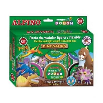 Пластилин Динозавры 6 цветов
