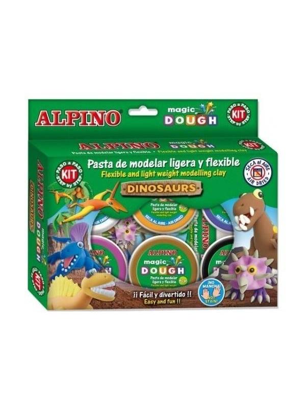 Пластилин Динозавры 6 цветов Alpino