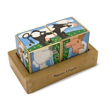 Звуковой пазл-кубики Ферма