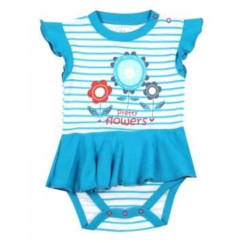 Малыши, Боди-платье Viva Baby (синий)260058, фото