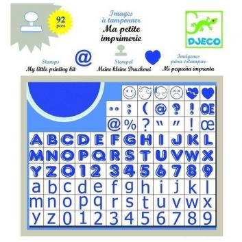 Набор штампов Алфавит большой