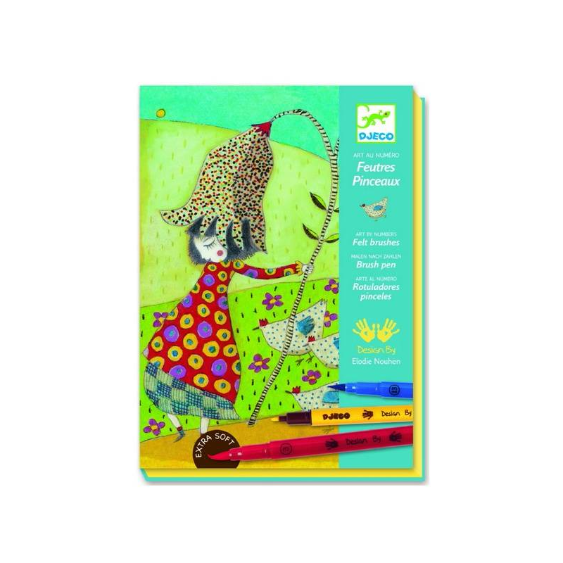 Djeco Раскраска С цветами наборы для рисования djeco раскраска блестящие животные