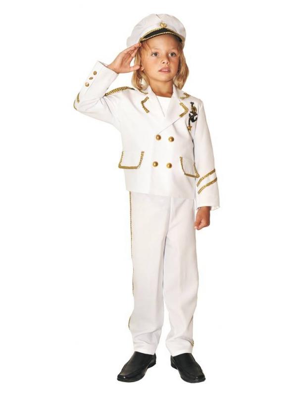 Карнавальный костюм Капитан Витус (белый)