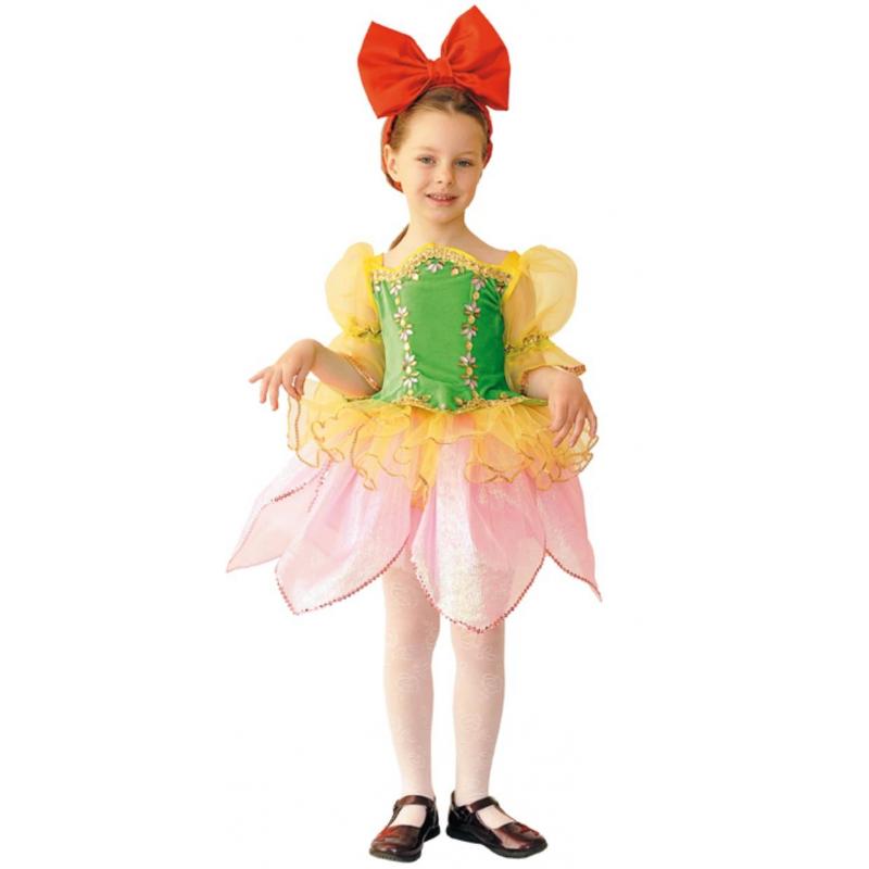 Карнавальный костюм ДюймовочкаКарнавальный костюм Дюймовочка маркиВитус. Карнавальный костюм Дюймовочка состоит из розовой юбочки в форме цветка, зеленого корсета и красного ободка с большим бантиком.На любом детском празднике ваша девочка будет выглядеть ярко и оригинально.<br><br>Размер: 7 лет<br>Цвет: Розовый<br>Рост: 122<br>Пол: Для девочки<br>Артикул: 632815<br>Бренд: Белоруссия