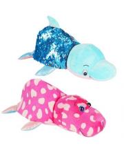 Вывернушка с паетками Дельфи-Морж 1Toy
