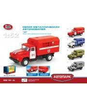 1:52 Инерционный металлический грузовик пожарный Play Smart