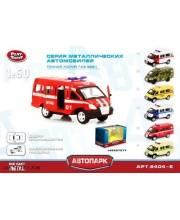 Инерционнаяионная металлическая пожарная машинка Play Smart