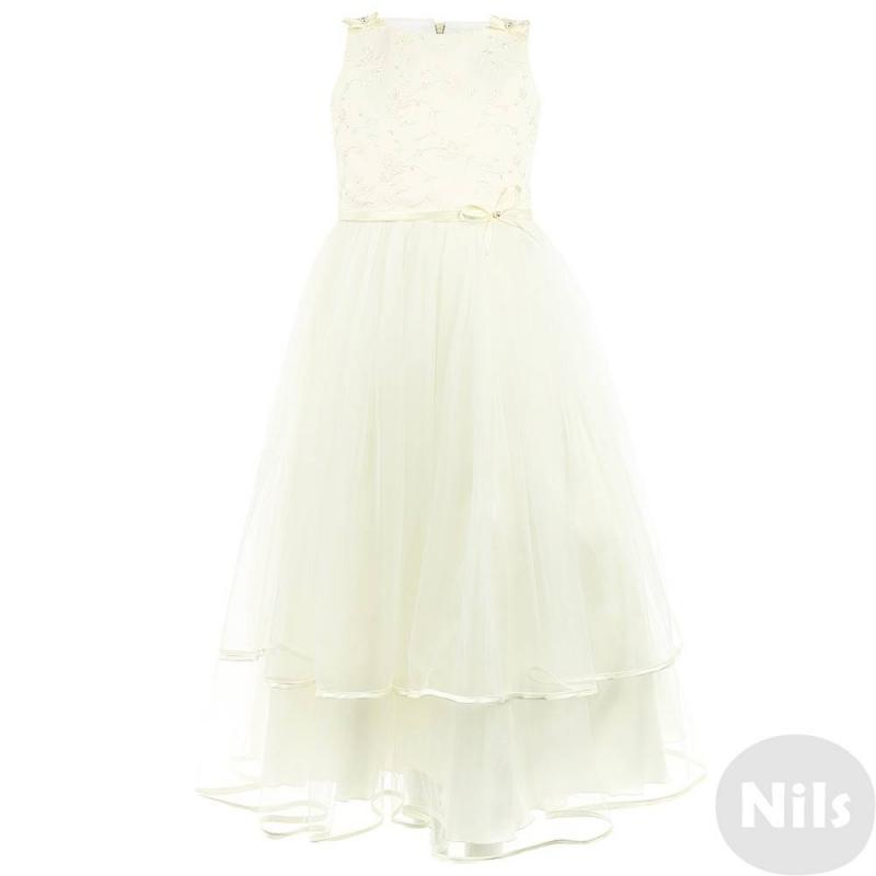 ПлатьеПлатьемолочногоцвета марки Fansy Way для девочек.<br>Праздничное платье с пышной многослойной юбкой выполнено из тонкого нежного полупрозрачного фатина, дополнено атласной юбкой, подъюбником из плотного фатина и хлопковой подкладкой. Топ украшен вышитыми узорами с бабочками, бретельки и пояс декорированы атласными лентами с бусинами. Застегивается платье на молнию и шнуровку на спине.<br>Нарядное платье Fansy Wayстанет самым изысканным нарядом на праздничном мероприятии.<br><br>Размер: 8 лет<br>Цвет: Бежевый<br>Рост: 128<br>Пол: Для девочки<br>Артикул: 634329<br>Страна производитель: Россия<br>Сезон: Осень/Зима<br>Состав верха: 100% Полиэстер<br>Состав подкладки: 100% Хлопок<br>Бренд: Россия