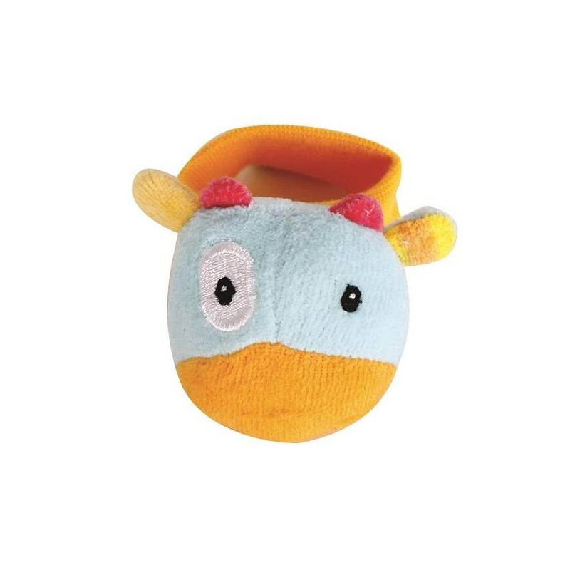 Погремушка на запястье КороваПогремушка на запястье Корова маркиGulliver Toys.<br>Погремушка на запястье Корова сделана из мягкой ткани и обязательно понравится вашему ребенку. Внутри игрушечнойкоровы спрятана небольшая погремушка, которая издает негромкий звук. На животе коровыесть небольшой кусочек ткани другой фактуры, что поможет малышу развивать тактильные ощущения и мелкую моторику. В разложенном виде погремушка имеет длину 16 см.Игрушку можно стирать при температуре не выше 40 градусов.<br><br>Возраст от: 0 месяцев<br>Пол: Не указан<br>Артикул: 630355<br>Страна производитель: Китай<br>Бренд: Россия<br>Размер: от 0 месяцев
