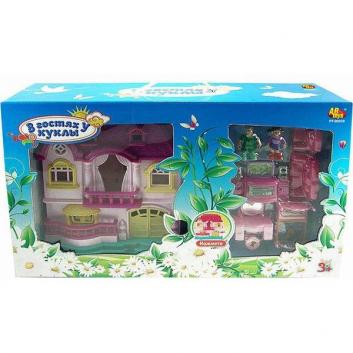 Дом В гостях у куклы с мебелью и человечками