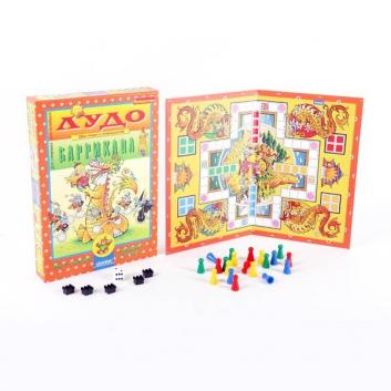Настольная игра для детей Лудо и Баррикада