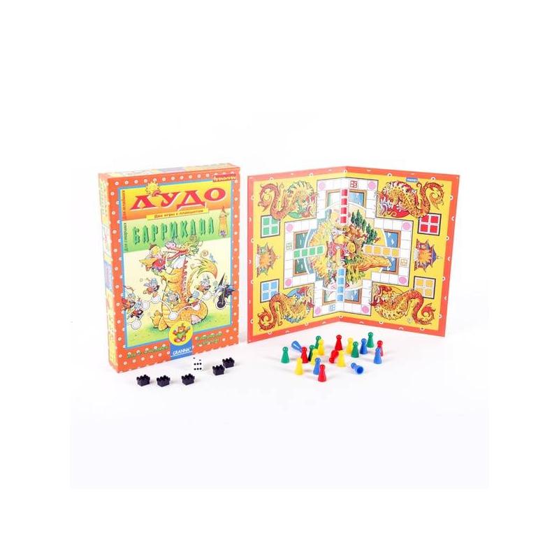 Фото Bondibon Настольная игра для детей Лудо и Баррикада