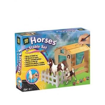 Набор Домик и две лошадки