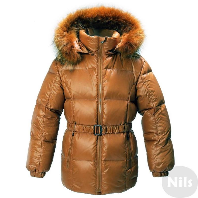 КурткаКуртка-пуховик светло-коричневогоцвета марки JUMS для девочек.Теплая курточка от латвийского бренда JUMS обязательно понравится девочкам. Насыщенный оранжевыйцвет привлекает внимание. Натуральный мех енота, из которого сделана опушка капюшона, приятен на ощупь. Благодаря материалу полиамиду, из которого выполнен верх изделия и подкладка, курточка приобрела особую прочность и водонепроницаемость.Эта стильная куртка убережет ребенка от холода в морозные месяцы: её наполнитель на 90% состоит из гусиного пуха и на 10% - из пера.<br>Есть два кармана на молнии, съемный капюшон, манжеты на резинке и съемный эластичный пояс. Мех можно отстегнуть.<br><br>Размер: 9 лет<br>Цвет: Коричневый<br>Рост: 134<br>Пол: Для девочки<br>Артикул: 626082<br>Бренд: Латвия<br>Страна производитель: Латвия<br>Сезон: Осень/Зима<br>Состав: 100% Полиамид<br>Состав подкладки: 100% Полиамид<br>Наполнитель: 90% Пух, 10% Перо<br>Температура: до -20°
