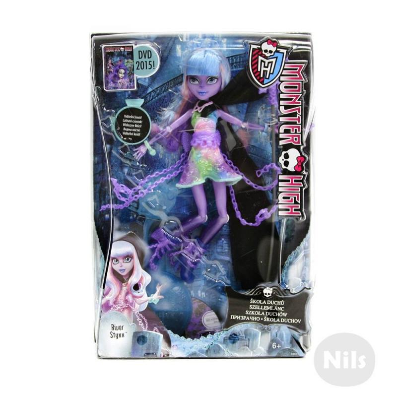 Mattel Ривер Стикс Призрачно Monster High monster high кукла дракулаура цвет платья розовый черный