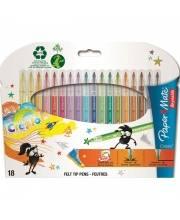 Фломастеры Crealo для занимательного рисования 18 цветов Paper Mate