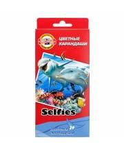 Карандаши цветные Selfies 24 шт KOH-I-NOOR