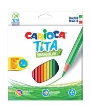 Карандаши цветные пластиковые Tita 24 шт CARIOCA