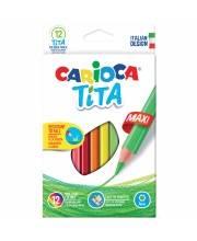 Карандаши цветные пластиковые Tita Maxi 12 шт CARIOCA
