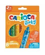 Карандаши цветные восковые смываемые Baby 8 шт CARIOCA