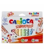 Набор фломастеров Stamperello 12 шт CARIOCA
