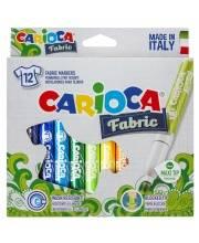 Набор фломастеров по текстилю Fabric 12 шт CARIOCA