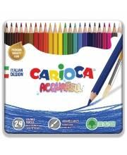 Карандаши цветные Acquarell шестиугольные матовые 24 цветов CARIOCA