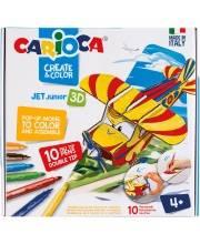 Набор для конструирования и раскрашивания Create&Color Planny 10 шт CARIOCA