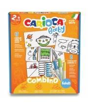 Паззл для малышей 2-в-1 двусторонний Раскрась и собери: Роботы CARIOCA