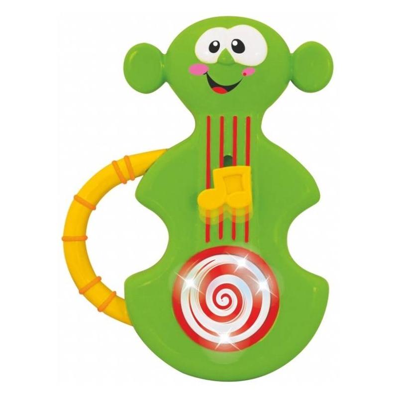 Развивающая игрушка Моя первая скрипкаРазвивающая игрушка Моя первая скрипка марки Kiddieland.<br>Яркая музыкальная игрушка Моя первая скрипка – это то, что нужно для воспитания музыкальных способностей вашего малыша! Предназначена для самых маленьких любителей музыки. Яркая и красочная, она привлечет малыша своим видом и мелодичностью. Скрипку удобно держать в руках, а чтобы было удобно переносить - есть специальная ручка. На струнах скрипки имеется удобный переключатель в форме ноты, который включает и выключает музыку. Игра с такой скрипкой будет способствовать развитию слуха и зрения вашего ребенка, и, возможно, пробудит в нем любовь к музыке. Игрушка работает от батареек.<br><br>Возраст от: 12 месяцев<br>Пол: Не указан<br>Артикул: 629614<br>Бренд: Китай<br>Размер: от 12 месяцев