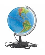 Глобус c двойной картой политической и физической с подсветкой ROTONDO