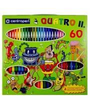 Детский подарочный набор Quatro II 60 предметов CENTROPEN