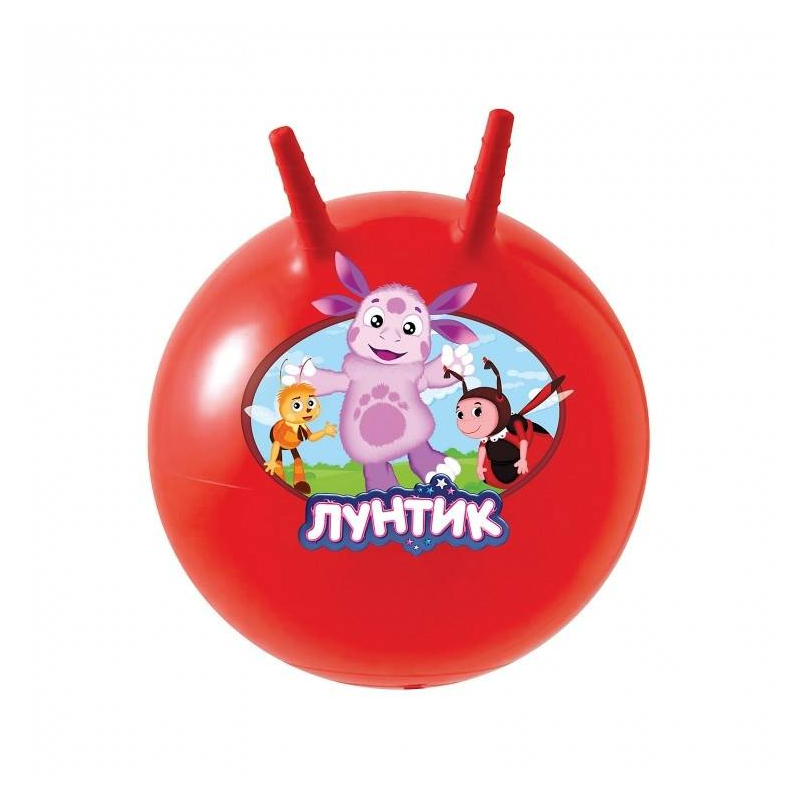 Мяч-попрыгун ЛунтикМяч-попрыгун Лунтик маркиJohn.<br>Мяч-попрыгун (фитбол) с изображением мультипликационного персонажа Лунтика в диаметре составляет 45-50 сантиметров, оснащен ручками-рожками. Изделие выполнено из прочной и эластичной резины.Мяч-попрыгун сразу же привлечет внимание ребенка своими большими размерами, ярким красным цветом и, конечно же, рожками;наличие рожек позволяет ребенку удобно и крепко держаться.<br>Особенности фитбола с рожками:удобные ручки-рожки с рифленой поверхностью;изготовлен из эластичного и прочного материала;компактен в хранении (можно сдуть и сложить в коробку);надувается с помощью насоса (в комплект не входит).<br>Занимаясь на мяче, ребенок развиваетчувство равновесия,мышцы ног,координацию,вестибулярный аппарат.<br>Материал: резина.<br>Диаметр: 45-50 см.<br><br>Возраст от: 2 года<br>Пол: Не указан<br>Артикул: 634222<br>Бренд: Германия<br>Страна производитель: Китай<br>Лицензия: Лунтик<br>Размер: от 2 лет