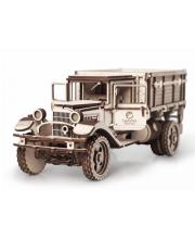 Конструктор 3D деревянный Грузовик Полуторка Кузов 217 деталей Lemmo
