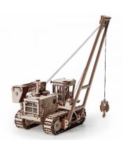 Конструктор 3D деревянный Трубоукладчик 472 детали Lemmo
