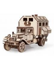 Конструктор 3D деревянный Грузовик Полуторка Фургон 318 деталей Lemmo