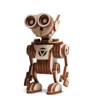 Конструктор 3D деревянный подвижный Робот Санни 56 деталей Lemmo