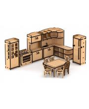 Набор кукольной мебели Кухня для домика Венеция 104 детали Lemmo