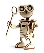 Конструктор 3D деревянный подвижный Робот 71 деталь Lemmo