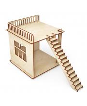 Конструктор Пристройка и лестница для домика 10 деталей ХэппиДом