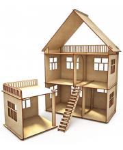 Конструктор-кукольный домик Коттедж с пристройкой ХэппиДом