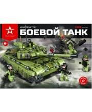 Конструктор пластиковый Боевой танк 1386 деталей Армия России
