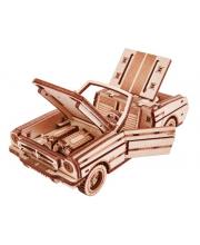 Механический 3D-пазл из дерева Кабриолет 110 деталей Wood Trick