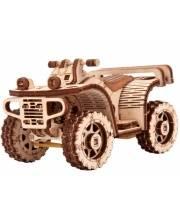 Механический 3D-пазл из дерева Квадроцикл ATV 57 деталей Wood Trick