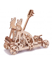 Механический 3D-пазл из дерева Катапульта 106 деталей Wood Trick