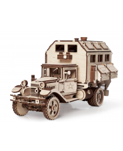 Конструктор из дерева Грузовик Полуторка Фургон 318 деталей Армия России