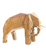 Конструктор Параметрический слон 106 деталей UNIWOOD